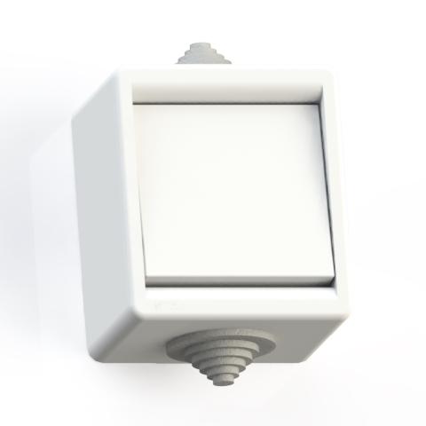 Выключатель 1-кл ОП 10А IP44 брызгозащ. А110-015 бел. 5904