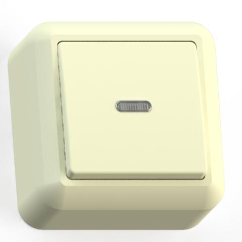 Выключатель 1-кл ОП 10А IP20 с подсв. сл.кость А110-386 Оптима 80031