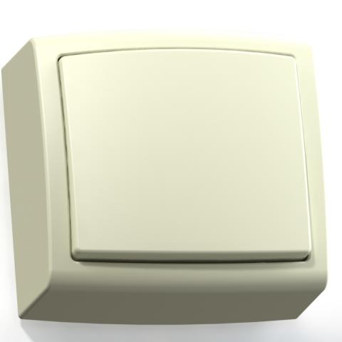 Выключатель 1-кл ОП 6А IP20 сл.кость А16-055 Елизавета 6450