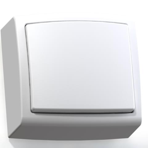 Выключатель 1-кл ОП 6А IP20 бел. А16-055 Елизавета 6400