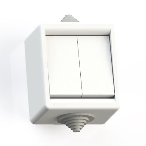 Выключатель 2-кл ОП 10А IP44 брызгозащ. А510-235 бел. 5905