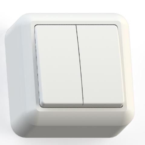 Выключатель 2-кл ОП 10А IP20 бел. А510-380 Оптима 8003