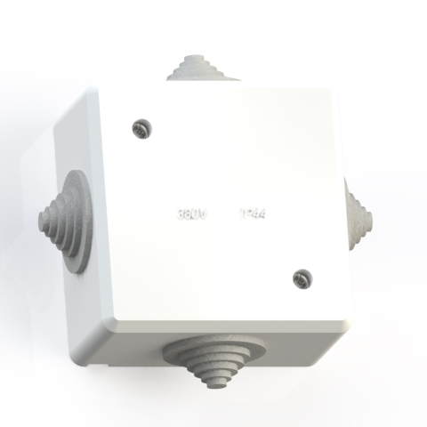 Коробка ответвительная ОП 78х78х42 IP44 КОА-001-БК без конт.групп 5952