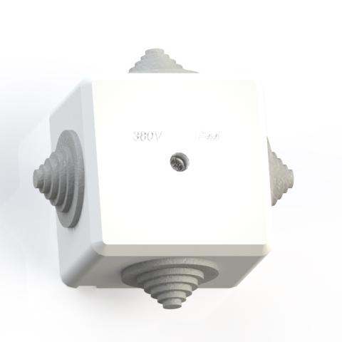 Коробка ответвительная ОП 60х60х42 IP44 КОА-002-БК без конт.групп 5954