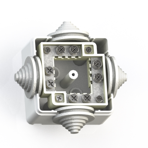 Коробка ответвительная ОП 60х60х42 IP44 КОА-002 с конт.групп 5955