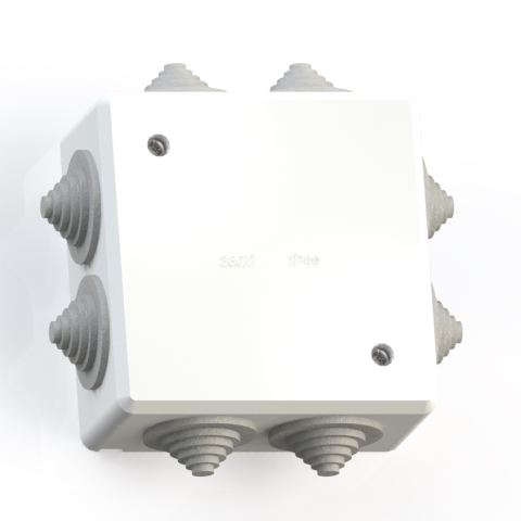 Коробка ответвительная ОП 90х90х42 IP44 КОА-003-БК без конт.групп 5956
