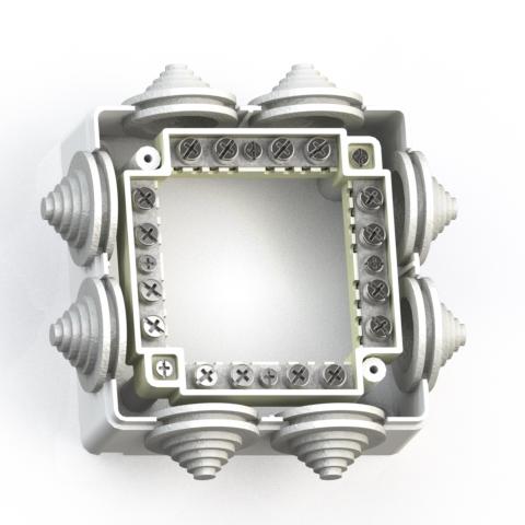 Коробка ответвительная ОП 90х90х42 IP44 КОА-003 с конт.групп 5957