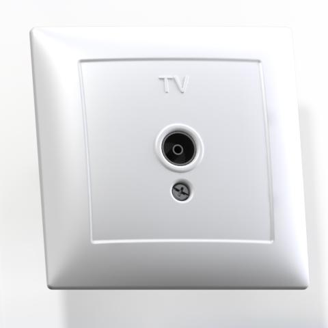 Розетка телевизионная 1-м СП бел. РТВ1-0-399 Селена 8120