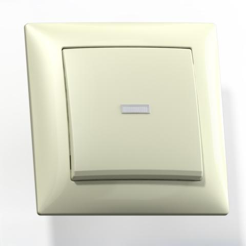 Выключатель 1-кл СП 10А IP20 с подсв. сл.кость С110-395 Селена 8142