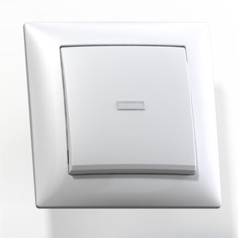 Выключатель 1-кл СП 10А IP20 с подсв. бел. С110-395 Селена 8102