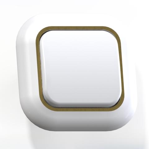 Выключатель 1-кл СП 6А IP20 бел/зол. С16-040 Валентина 7644