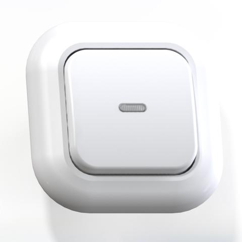 Выключатель 1-кл СП 6А IP20 с подсв. бел. С16-068 Валентина 7645