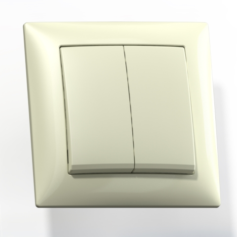 Выключатель 2-кл СП 10А IP20 сл.кость С510-379 Селена 8143