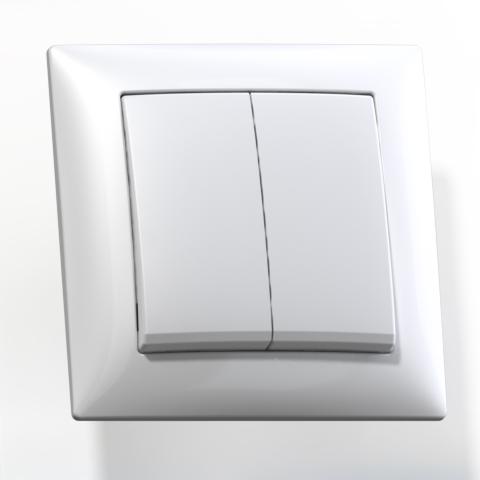 Выключатель 2-кл СП 10А IP20 бел. С510-379 Селена 8103