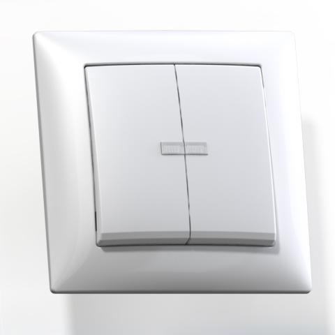 Выключатель 2-кл СП 10А IP20 с подсв. бел. С510-397 Селена 8104