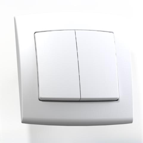 Выключатель 2-кл СП 6А IP20 бел. С56-053 Елизавета 6415