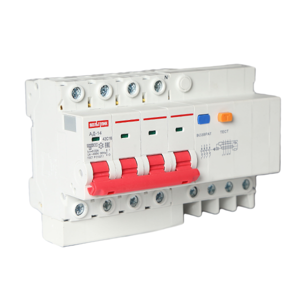 (S) Авт.выключатель дифференциального тока АД 14 4Р 25А 30мА